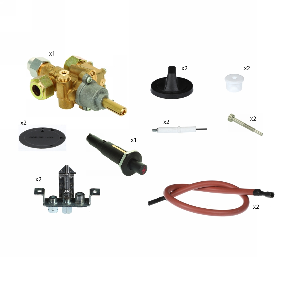 Parts Pack (Solid Top Boiling Table - 2 zone)